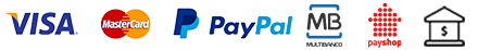Aceitamos estes métodos de pagamento